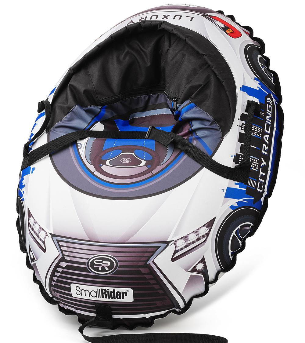 Small Rider Надувные санки-тюбинг с сиденьем и ремнями Snow Cars 3 LX цвет синий цены