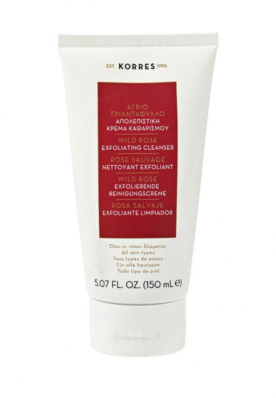 Korres Нежный скраб с дикой розой Ежедневное Очищение для всех типов кожи лица 150 мл520306904545590, 5% натуральных ингредиентов. Мягкое отшелушивающее средство для ежедневного использования. Эффективно удаляет излишки себума, загрязнения, макияж, а также омертвевшие клетки. Делает кожу гладкой и сияющей. Не содержит мыла, не сушит кожу. Почему именно дикая роза стала основой линий Дикая роза, богатая витамином С, выравнивает тон кожи, предупреждает появление пигментации и появление первых признаков старения; Масло дикой розы обеспечивает длительное увлажнение, обладает противоспалительным действием и смягчает кожу; Масло дикой розы образует защитную пленку на коже, которая способствует регенерации клеток и улучшает текстуру кожи.Масло дикой розы, Частицы зерен риса и вишнёвых косточек, Черника, экстракты апельсина и лимона, Полисахариды в сочетании с экстрактом алоэНанести на влажную кожу, избегая области вокруг глаз. Массировать нежными круговыми движениями, смыть водой. Использовать ежедневно.