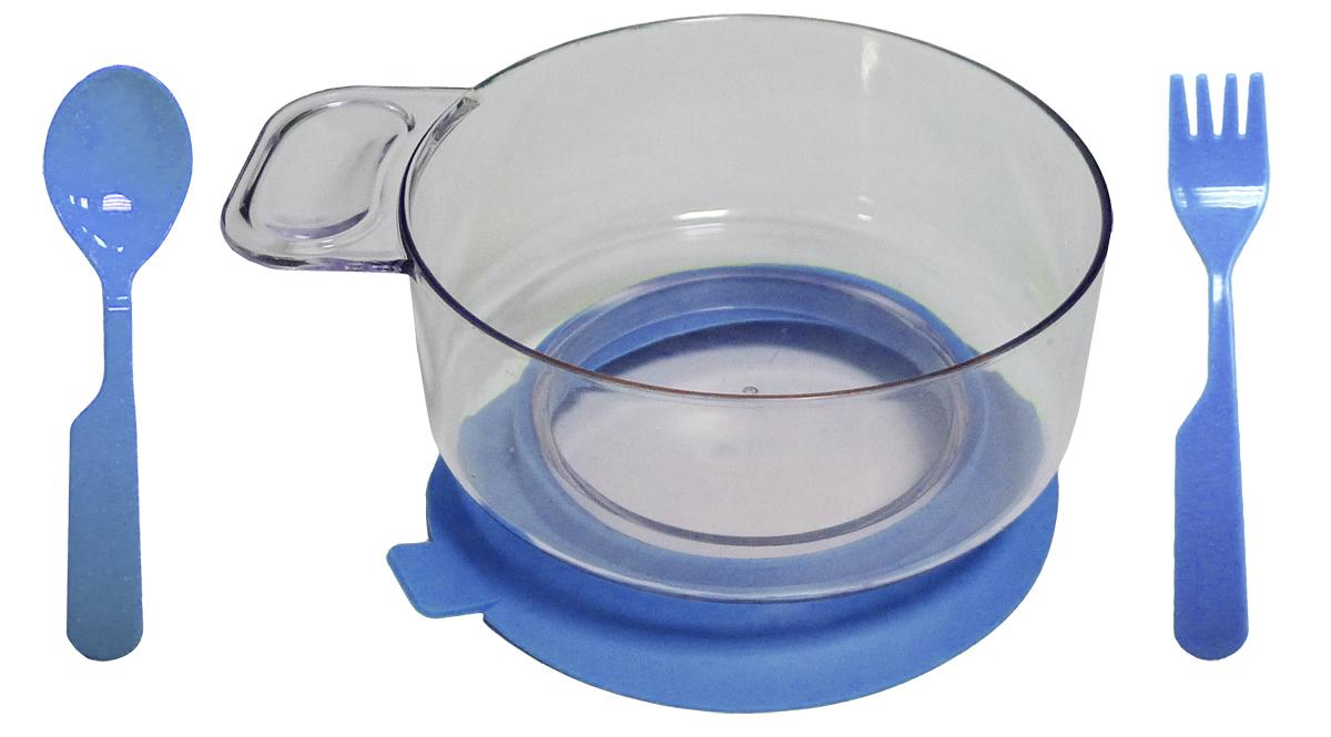 Набор детской посуды цвет синий 3 предмета 1213