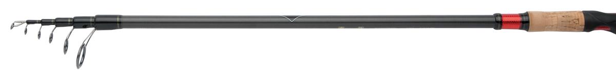 Удилище спиннинговое Shimano Catana CX Telespin, 3 м, 10-30 гSCATCXTE30MИспользование Geofibre в новом спиннинге Shimano Catana CX Telespin в сочетании с прогрессивным строем колец невероятно улучшает качество заброса, оставляя конкурентов в аналогичном ценовом диапазоне далеко позади. Материал Geofibre создает в бланке больше жесткости, сохраняя мощь и обеспечивая отличное игровое действие. Повышенной чувствительности способствует также конструкция рукояти. В ее передней части есть выемка, обнажающая бланк. Нужно сказать, что это достаточно необычное решение. Палец удобно ложится в выемку, и вы чувствуете малейшее изменение в проводке, осторожнейшую поклевку, касание приманки дна. Vibraspot, так назвали это ноу-хау разработчики, прекрасная альтернатива плетенной дорогостоящей леске. С обычной мононитью у вас будет такая же чувствительная снасть, как если бы вы использовали плетенку с другими удилищами без Vibraspot. Если же ловить со шнуром, используя при этом спиннинг Shimano Catana CX Telespin, то ощущения просто невозможно передать словами - настолько живо передается все происходящее под водой в руку. Спиннинг имеет сложный строй бланка. В процессе вываживания нагрузка распределяется равномерно от кончика до комля. У рыболова появляется шанс вытащить на берег довольно крупную рыбу.