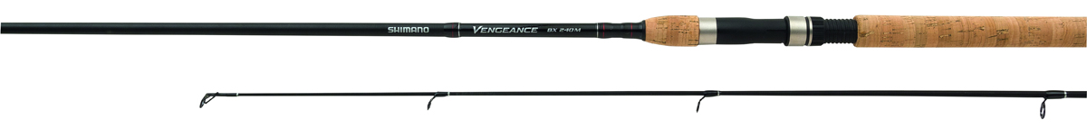 Удилище спиннинговое Shimano Vengeance BX Spinning, 2,4 м, 14-40 гSVBX24MHБланк XT-30 удилища Shimano Vengeance BX Spinning, имеющий быстрый прогрессивный строй, оснащен направляющими кольцами Shimano Hard Lite. Пробковая ручка с новым катушкодержателем JPS обеспечивают очень удобный захват. Качество удилища создало ему хорорую репутацию.