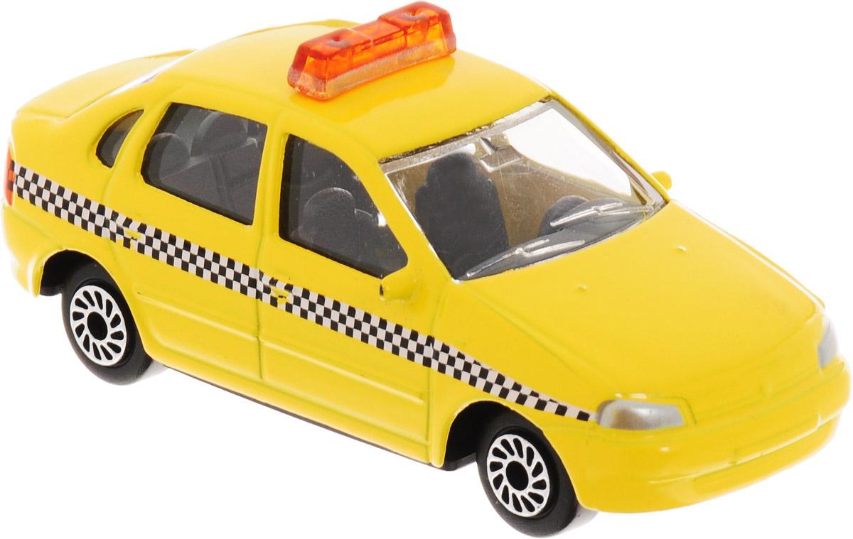 ТехноПарк Автомобиль Lada Lada Kalina Такси цвет желтый автомобиль welly lada kalina такси 1 34 39 42383