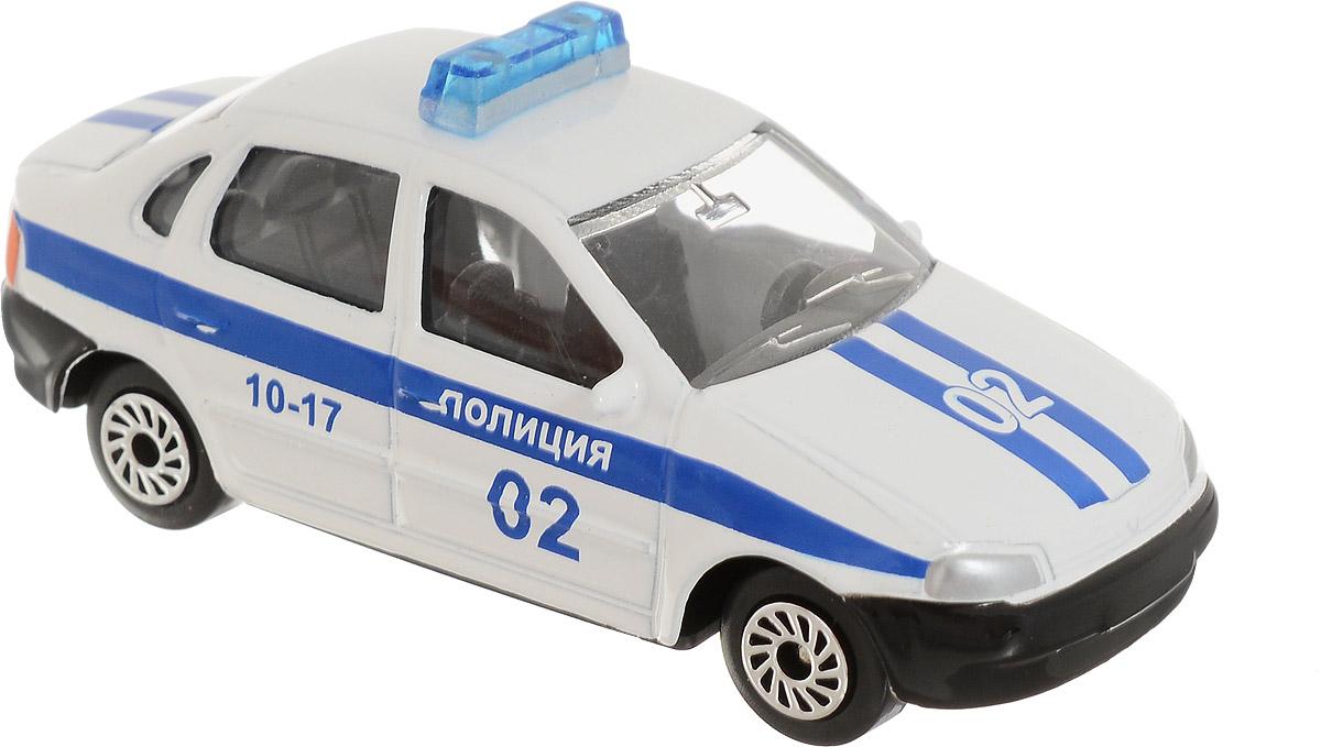 ТехноПарк Автомобиль Lada Lada Kalina Полиция цвет белый технопарк игровой набор полиция