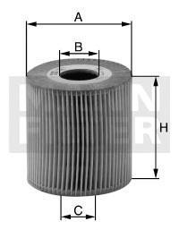 Фильтр масляный Mann-Filter HU7019ZHU7019Z
