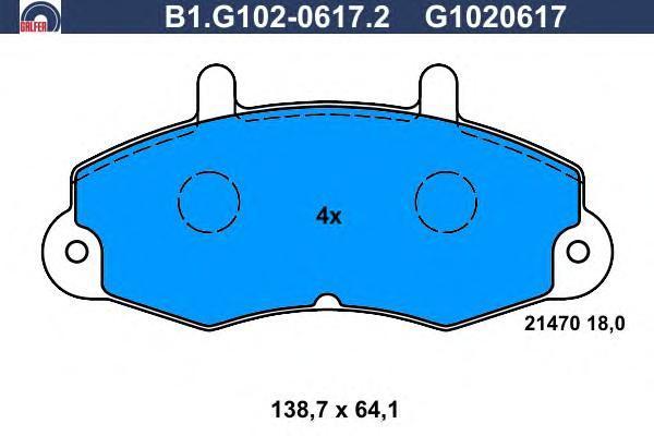 Колодки тормозные Galfer B1G10206172B1G10206172