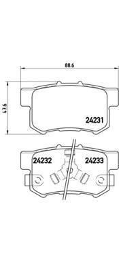 Колодки тормозные Brembo P28051P28051