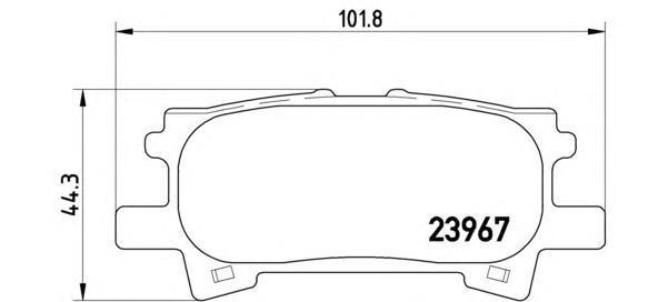 Колодки тормозные дисковые задние Brembo P83068P83068