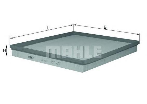 Фильтр воздушный Mahle/Knecht LX20651LX20651