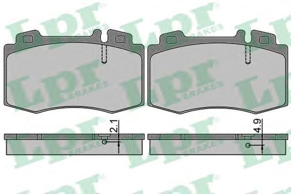 Колодки тормозные LPR / AP 05P84905P849