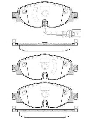Колодки тормозные передние Remsa 151501151501