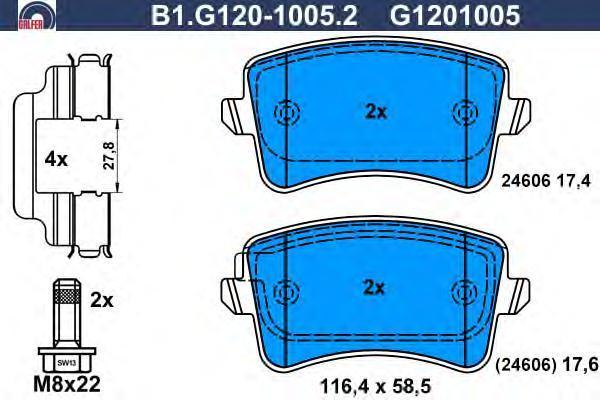 Колодки тормозные Galfer B1G12010052B1G12010052
