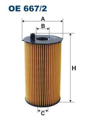 Фильтр масляный Filtron OE6672OE6672