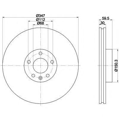 Диск тормозной Pro BEHR-HELLA 8DD3551111618DD355111161