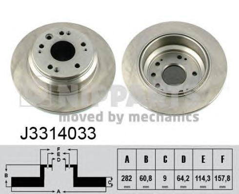 Диск тормозной Nipparts J3314033 комплект 2 штJ3314033