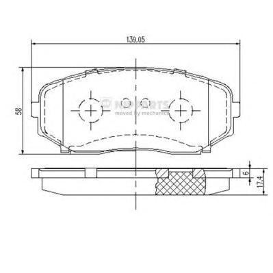 Колодки тормозные передние Nipparts N3603070N3603070