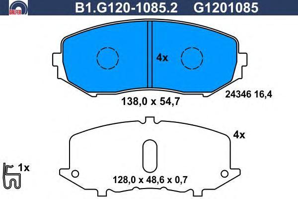 Колодки тормозные Galfer B1G12010852B1G12010852