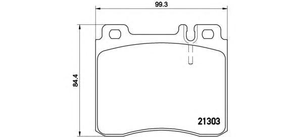 Колодки тормозные передние Brembo P50018P50018