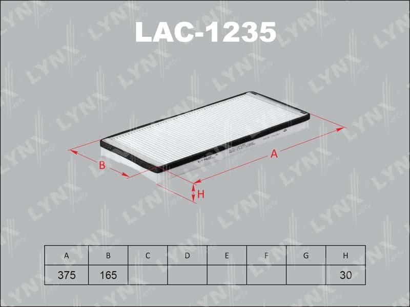 Фильтр салонный Lynx LAC1235LAC1235