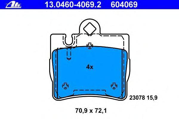 Колодки тормозные дисковые Ate 1304604069213046040692