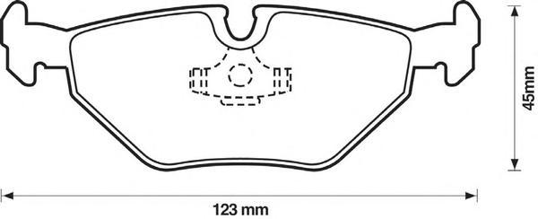 Колодки тормозные задние Jurid 571960J571960J