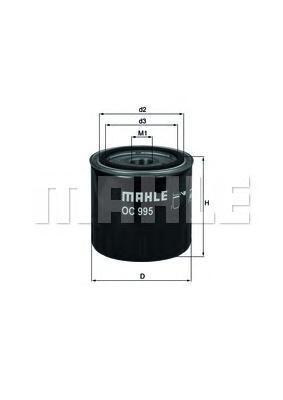 Масляный фильтр Mahle OC995OC995Фильтр масляный RENAULT: LAGUNA lll 3.0DCI 08-, GR