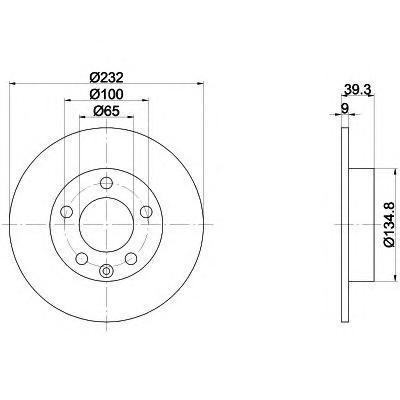 Диск тормозной задний Textar 9208250392082503