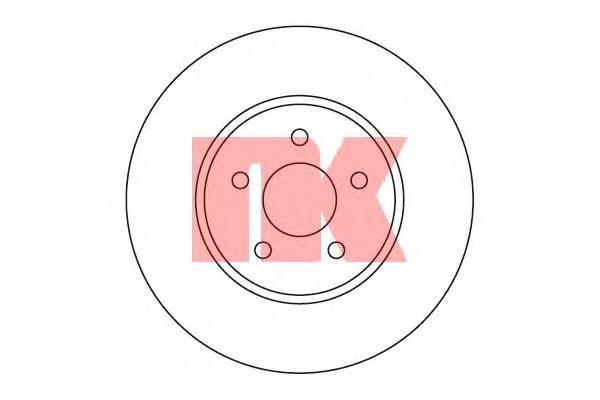 Диск тормозной NK 202550 комплект 2 шт202550