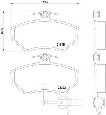 Колодки тормозные дисковые, 4 шт Textar 21945042194504