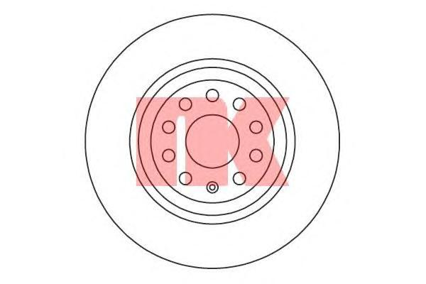 Диск тормозной задний NK 20471362047136