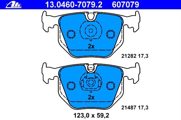 Колодки тормозные дисковые Ate 1304607079213046070792