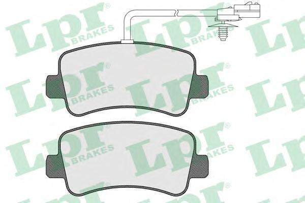 Колодки тормозные задние LPR / AP 05P157805P1578