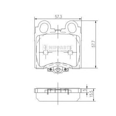 Колодки тормозные задние Nipparts J3612017J3612017