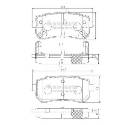 Колодки тормозные задние Nipparts J3610512J3610512