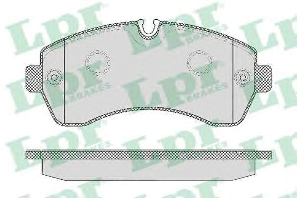 Колодки тормозные передние LPR / AP 05P129505P1295