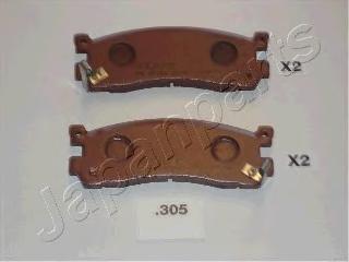 Колодки тормозные дисковые Japanparts PP305AFPP305AF