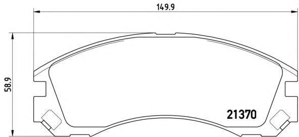 Колодки тормозные передние Brembo P61089P61089