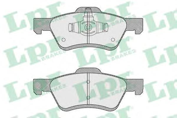 Колодки тормозные передние LPR / AP 05P162205P1622