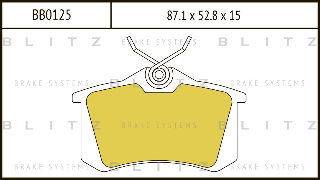 Колодки тормозные дисковые BLITZ автотовары BB0125BB0125