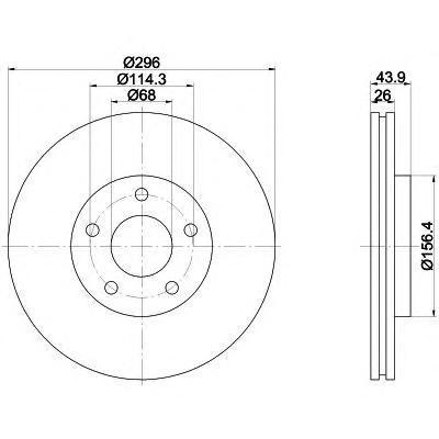 Диск тормозной BEHR-HELLA 8DD355114601 комплект 2 шт8DD355114601