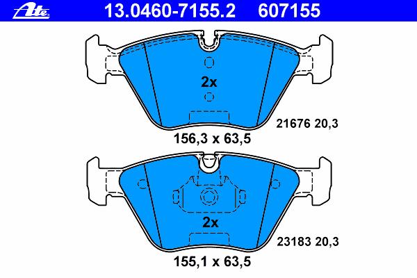 Колодки тормозные дисковые Ate 1304607155213046071552