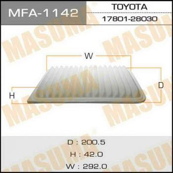 Фильтр воздушный Masuma MFA1142MFA1142