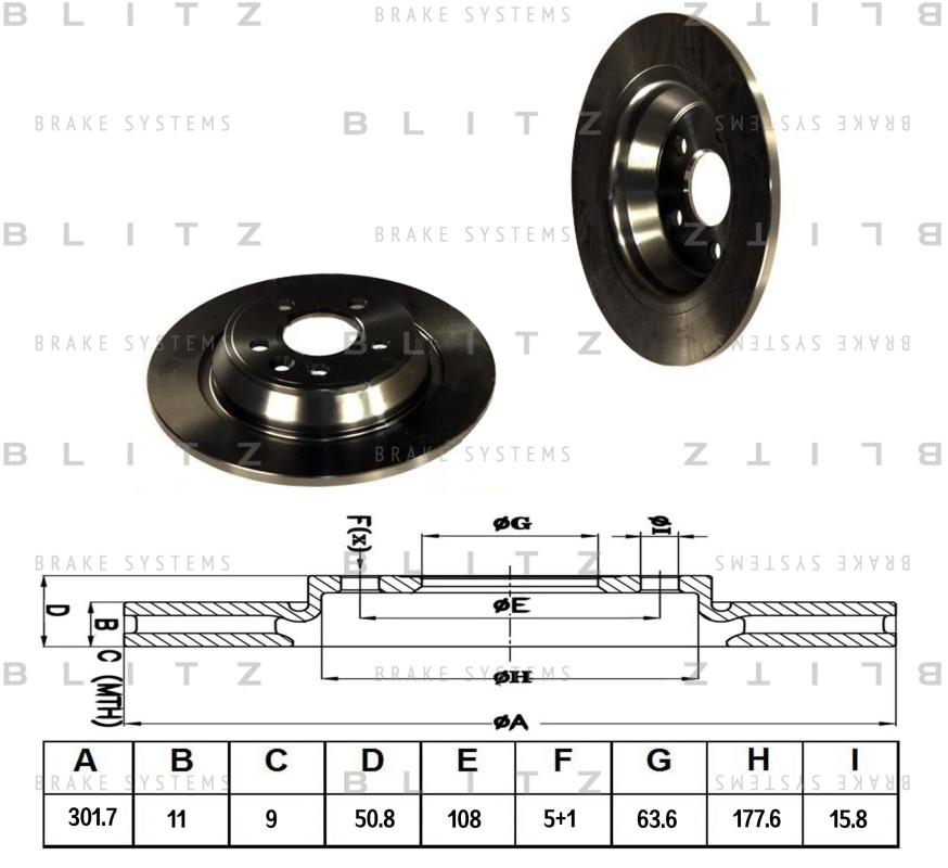 Диск тормозной BLITZ автотовары BS0224BS0224