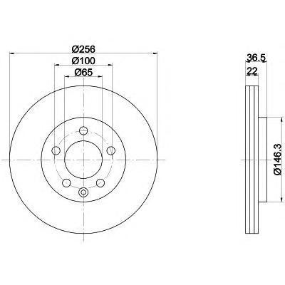 Диск тормозной Pro BEHR-HELLA 8DD355105361 комплект 2 шт8DD355105361