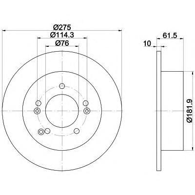Textar Диск тормозной задний. 9218580392185803