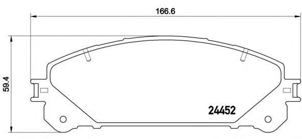 Колодки тормозные передние Brembo P83145P83145