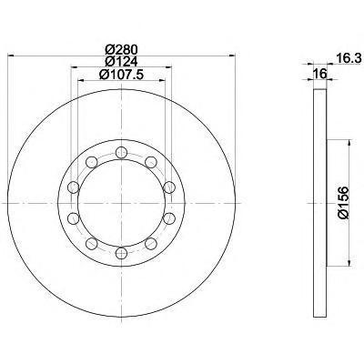 Диск тормозной передний вентилируемый Textar 92151803 комплект 2 шт92151803