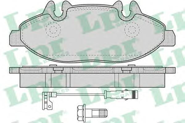 Колодки тормозные передние с датчиком LPR / AP 05P122805P1228