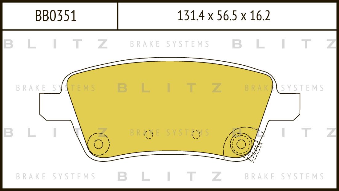 Колодки тормозные дисковые BLITZ автотовары BB0351BB0351