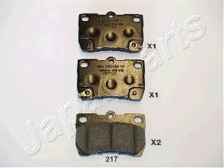 Колодки тормозные дисковые Japanparts PP217AFPP217AF