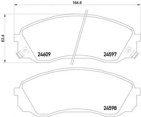 Колодки тормозные передние Textar 24597012459701